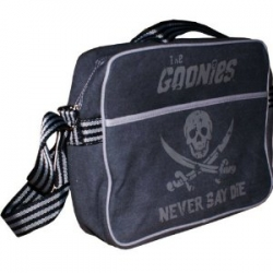 The Goonies 'Never Say Die' Grey Skull Retro Sports Bag