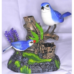 Bird ornament that moves and sings bird song - motion activated