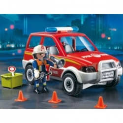 Playmobil Fire Chief and Car 4822