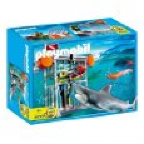 Playmobil 4500 shark cage for Piscine playmobil