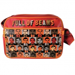 Mr Bean (Full of Beans design) - Messenger Bag with adjustable Shoulder strap