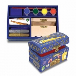 Melissa & Doug - Decorate-Your-Own Wooden Treasure Chest