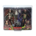 Neca - Predator Action Figure 2-Pack Battle Damaged Jungle Hunter & City Hunter